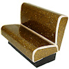 Artisan Crafted Gold Sparkle Upholstered Diner Booth Seat