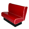 Red Sparkle Diner Booth Seat Artisan Crafted
