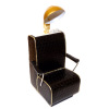 Handcrafted Beauty Salon Black Dryer Chair with Gold Trim