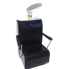 Handcrafted Beauty Salon Black Sparkle Dryer Chair