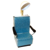 Handcrafted Beauty Salon Blue Sparkle Dryer Chair