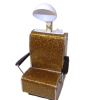 Handcrafted Beauty Salon Light Gold Sparkle Dryer Chair