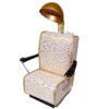 Handcrafted Beauty Salon Gold and White Dryer Chair