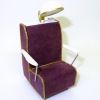 Handcrafted Dollhouse Wine Suede Beauty Salon Hair Dryer Chair