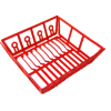 Rubberized Red Metal Dish Drainer