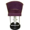 Handcrafted Beauty Salon Wine Suede Hair Cutting Styling Chair