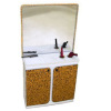 Handcrafted Salon Gold Sparkle Hair Cutting Styling Station