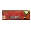 Handcrafted Wood Headhunters Lounge Bar Sign with Tropical Drink
