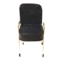 Handcrafted Black Dot Gold Trim Salon Shampoo Chair