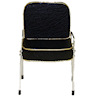 Handcrafted Black Gold Trim Salon Shampoo Chair