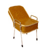 Handcrafted Beauty Salon Gold Sparkle Tilted Back Shampoo Chair