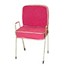 Handcrafted Hot Pink Suede Beauty Salon Shampoo Chair