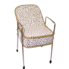 Handcrafted Gold and White Beauty Salon Tilt Back Shampoo Chair