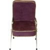 Handcrafted Beauty Salon Wine Suede Shampoo Chair