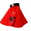 Handcrafted Red Poodle Skirt