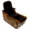 Handcrafted Salon Pedicure Chair with Black Dot Seat