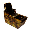 Handcrafted Salon Pedicure Chair Black Dot Seat Gold Trim