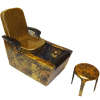 Gold Sparkle Salon Pedicure Chair with Foot Bath