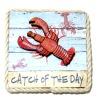Handcrafted Rope Trim Wood 3D Catch of the Day Lobster Sign