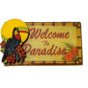 Welcome To Paradise Toucan Tiki Bar Sign
