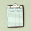 Handcrafted Medical Office Patient Sign In Sheet on Clipboard