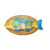 Whimsical Colorful Mounted Fishing Trophy