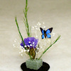 Handcrafted Garden Flowers with Butterfly