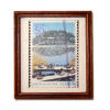 Wood Framed Japanese Stamp Picture