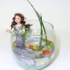 Porcelain Mermaid In Glass Fish Bowl by IGMA Fellow Mary Kinloch