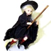 Little Girl Witch on her Broom by IGMA Fellow Mary Kinloch