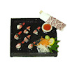 Twin Heart Crab Legs Sushi Bento Box Round