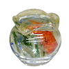 Twin Heart Handcrafted Goldfish in Glass Fish Bowl