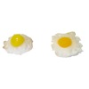 Twin Heart Handcrafted Pair Of Fried Eggs