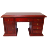 Miniature Desk With Drawers and Storage Cabinet