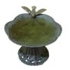Wilhelmina Aged Filled Dove Birdbath Bird Bath
