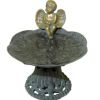 Wilhelmina Aged Filled Garden Cherub Angel Birdbath Bird Bath