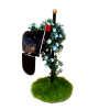 Wilhelmina Handcrafted Mailbox Garden with Flowers and Bird Nest