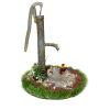 Wilhelmina Handcrafted Water Pump Garden Scene w Dripping Water