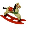 Wilhelmina Handcrafted Wood Christmas Rocking Horse