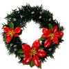 Wilhelmina Artist Crafted Poinsettia Christmas Wreath