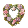 Wilhelmina Valentine Wreath Heart Shape with Flowers