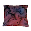 Handcrafted Abstract Silk Pillow with Red Highlights