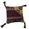 Artisan Modern Silk Pillow With Tassels