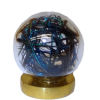 Peacock Feather In Glass Orb Crystal Ball
