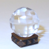 Faceted Quartz Crystal Ball
