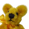 Tiny Jointed Fluffy Golden Bear World of Miniature Bears