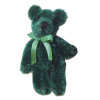 Tiny Forest Green Jointed Teddy Bear - World of Miniature Bears