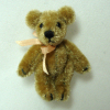 Tiny Dollhouse Gold Jointed Bear World of Miniature Bears