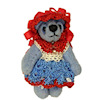 World of Miniature Bears Tessie in Crocheted Dress
