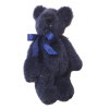 Tiny Jointed Fluffy Black Bear - World of Miniature Bears